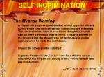 self incrimination1