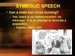 symbolic speech9