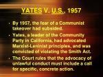 yates v u s 1957