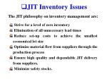 jit inventory issues