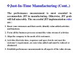 just in time manufacturing cont1