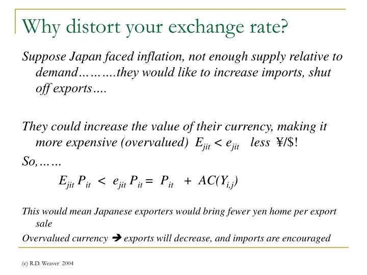 Why distort your exchange rate?