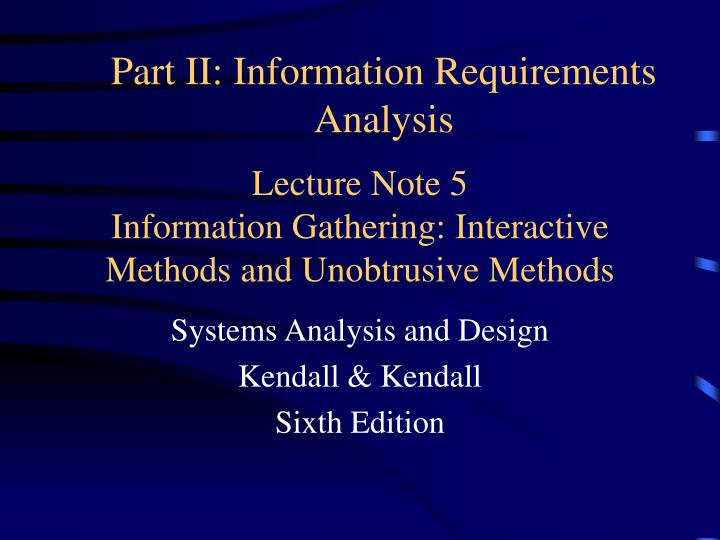 lecture note 5 information gathering interactive methods and unobtrusive methods n.