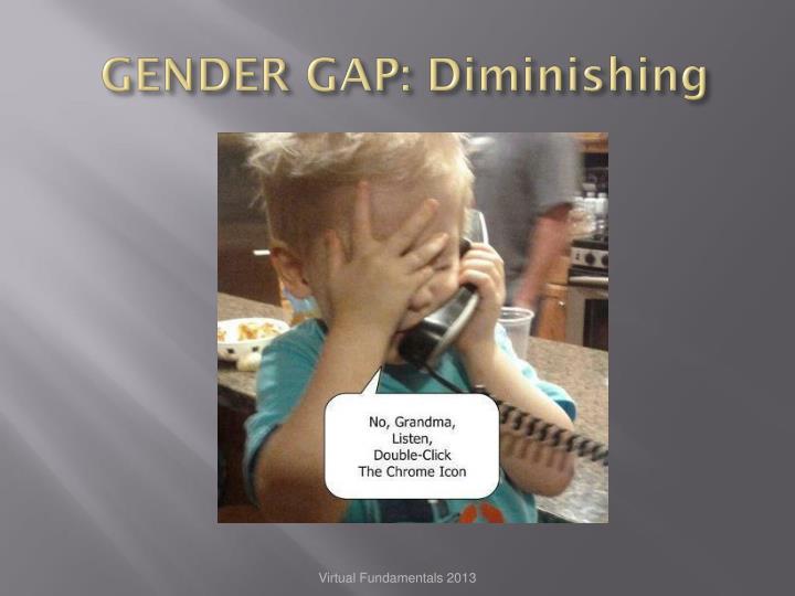 GENDER GAP: Diminishing