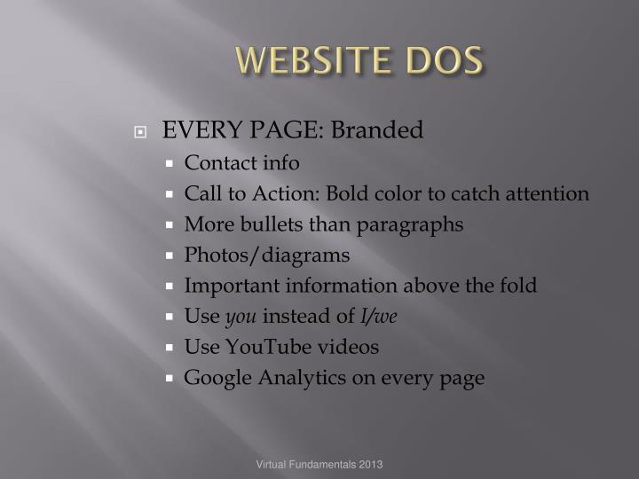 WEBSITE DOS