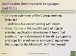 application development languages and tools9