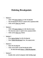 deleting breakpoints