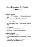 some important breakpoint properties