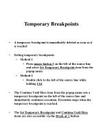 temporary breakpoints