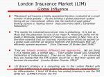 london insurance market lim global influence