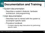 documentation and training