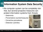 information system data security