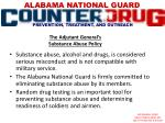 the adjutant general s substance abuse policy