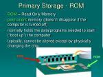 primary storage rom