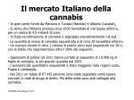 il mercato italiano della cannabis