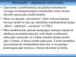metamodel obja nienie nieformalne