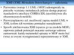 xmi xml metadata interchange za o enia