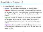 capabilities of debugger 2