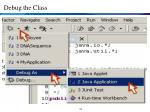 debug the class