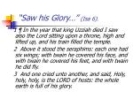 saw his glory isa 6