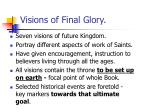 visions of final glory