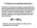 2 9 potencia en la superficie transversal