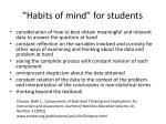 habits of mind for students