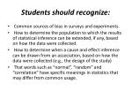 students should recognize
