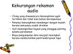 kekurangan rekaman audio