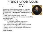 france under louis xviii