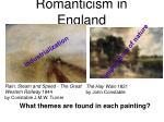 romanticism in england