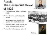 russia the decembrist revolt of 1825