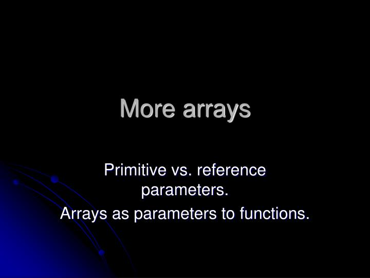 more arrays n.