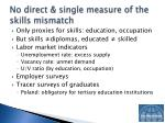 no direct single measure of the skills mismatch