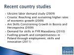 recent country studies