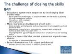 the challenge of closing the skills gap