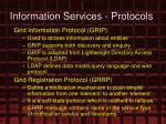 information services protocols