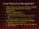 local resource management