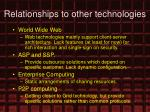 relationships to other technologies