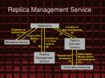 replica management service