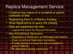 replica management service1