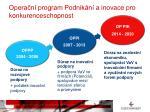 opera n program podnik n a inovace pro konkurenceschopnost