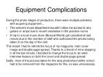 equipment complications