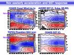 nov easterly acceleration and sst response