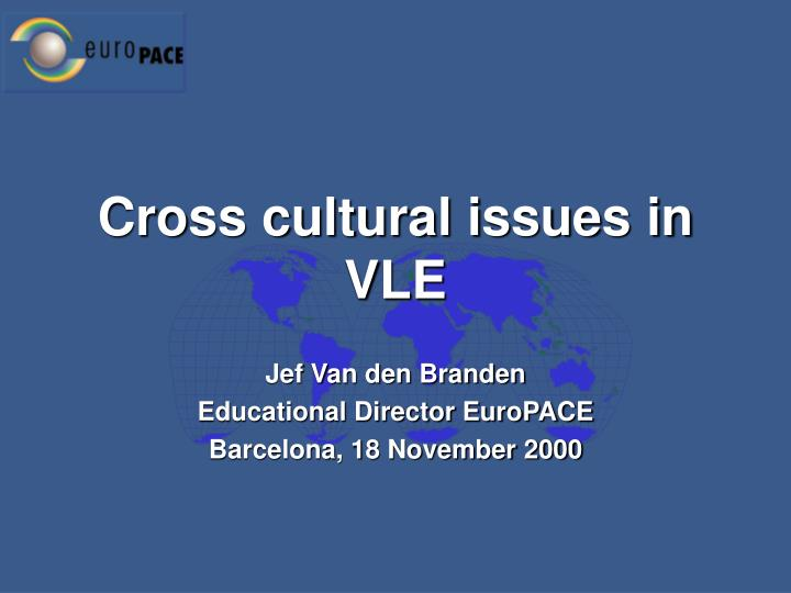 cross cultural issues in vle n.