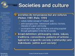 societies and culture
