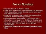 french novelists