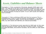 assets liabilities and balance sheets1