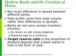 modern banks and the creation of money1