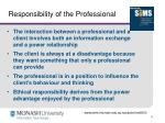 responsibility of the professional